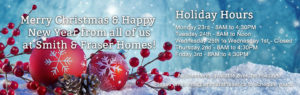 Smith and Fraser - 2019 Holiday Hours